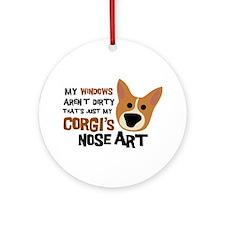 Corgi Nose Art Ornament (Round)