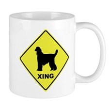 Afghan Hound Crossing Mug