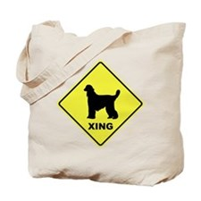 Afghan Hound Crossing Tote Bag