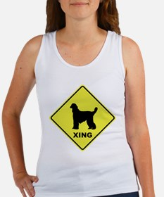 Afghan Hound Crossing Women's Tank Top