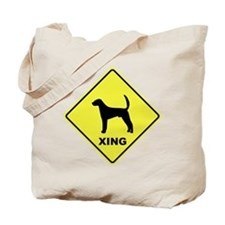 American Foxhound Crossing Tote Bag