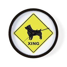 Australian Terrier Crossing Wall Clock