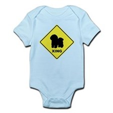 Bichon Frise Crossing Infant Bodysuit