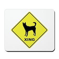 Canaan Dog Crossing Mousepad