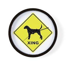 English Foxhound Crossing Wall Clock