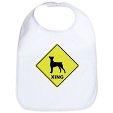 German Pinscher Crossing Bib