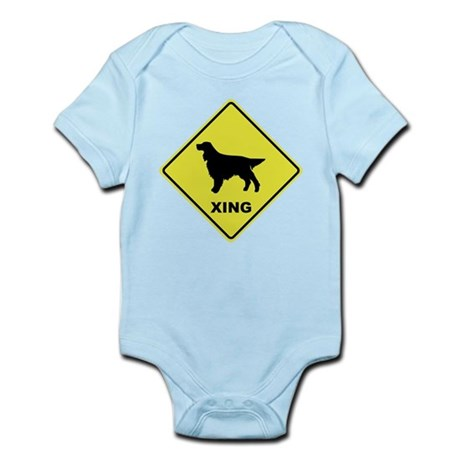 Gordon Setter Crossing Infant Bodysuit