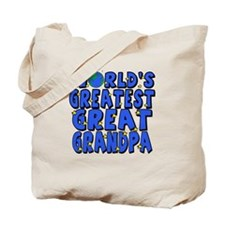 World's Greatest Great Grandpa Tote Bag