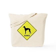 Italian Greyhound Crossing Tote Bag