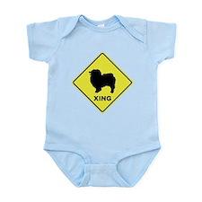 Keeshond Crossing Infant Bodysuit