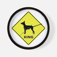 Manchester Terrier Crossing Wall Clock