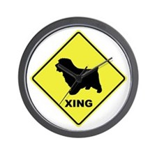Norfolk Terrier Crossing Wall Clock
