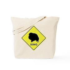 Pomeranian Crossing Tote Bag