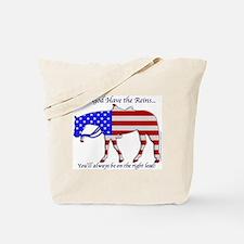 Let God have the Reins Tote Bag