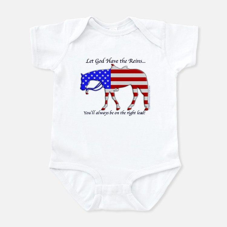 Let God have the Reins Infant Bodysuit