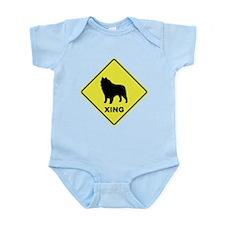 Schipperke Crossing Infant Bodysuit