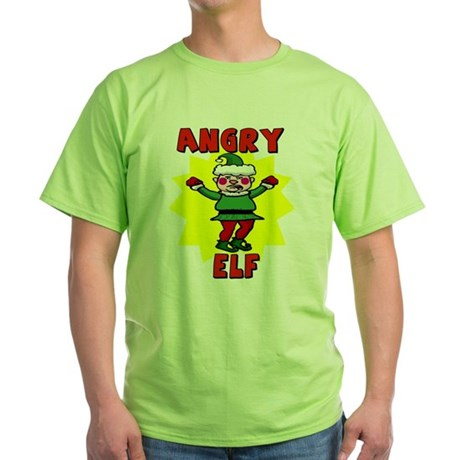 Angry Elf Green T-Shirt