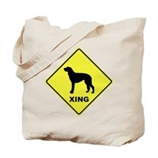 Scottish Deerhound Crossing Tote Bag