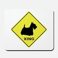 Scottish Terrier Crossing Mousepad