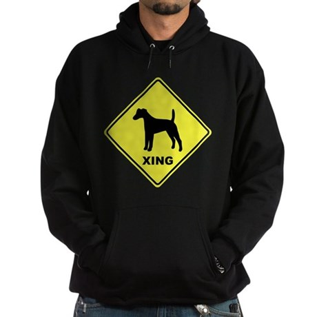 Fox Terrier Crossing Hoodie (dark)
