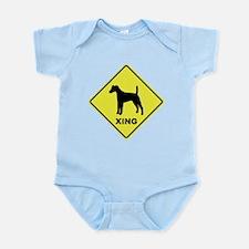 Fox Terrier Crossing Infant Bodysuit