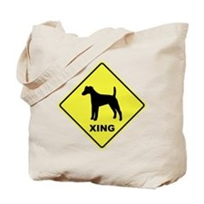 Fox Terrier Crossing Tote Bag