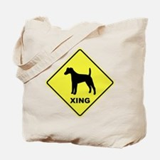 Fox Terrier Crossing Tote Bag