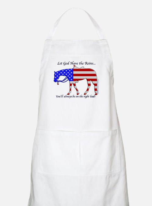 Let God have the Reins BBQ Apron