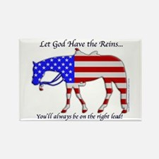 Let God have the Reins Rectangle Magnet
