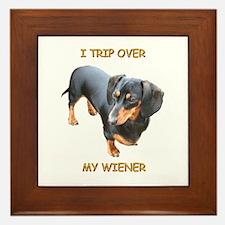 I Trip Wiener Framed Tile
