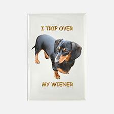 I Trip Wiener Rectangle Magnet
