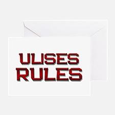 ulises rules Greeting Card
