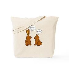 Funny Chocolate Bunnies Tote Bag