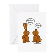 Funny Chocolate Bunnies Greeting Card