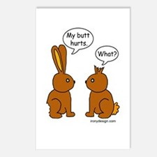 Funny Chocolate Bunnies Postcards (Package of 8)