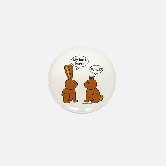 Funny Chocolate Bunnies Mini Button