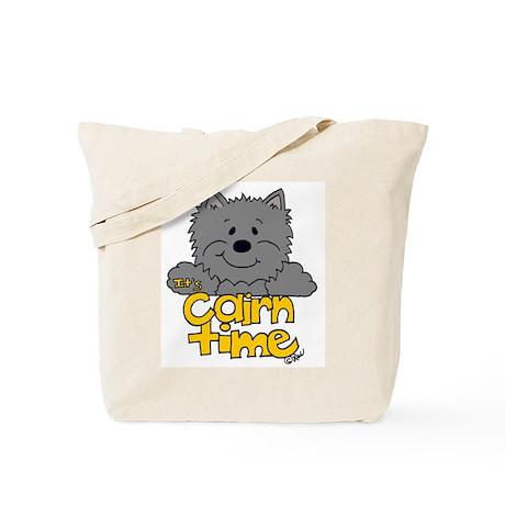 Big Cairn: Gray/Yellow Tote Bag