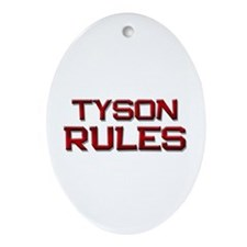tyson rules Oval Ornament