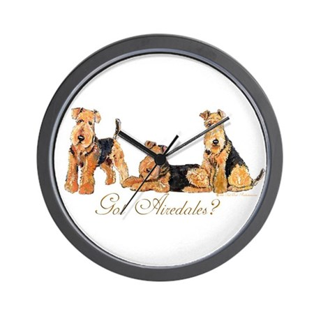 Got Airedale Terriers? Wall Clock