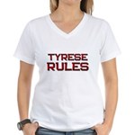 tyrese rules Women's V-Neck T-Shirt
