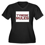 tyrese rules Women's Plus Size V-Neck Dark T-Shirt