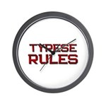 tyrese rules Wall Clock