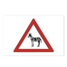 Caution Zebras, Namibia Postcards (Package of 8)