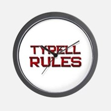 tyrell rules Wall Clock