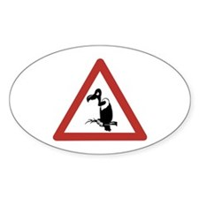 Caution Vultures, Namibia Oval Decal