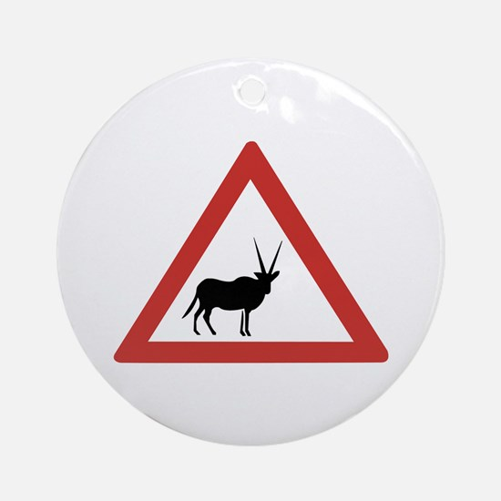 Caution Oryx, Namibia Ornament (Round)