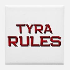 tyra rules Tile Coaster