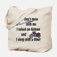 Raised Airman Sleep Biker Tote Bag