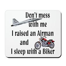 Raised Airman Sleep Biker Mousepad