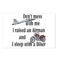 Raised Airman Sleep Biker Postcards (Package of 8)